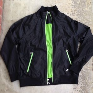 Nike black green vintage retro windbreaker jacket